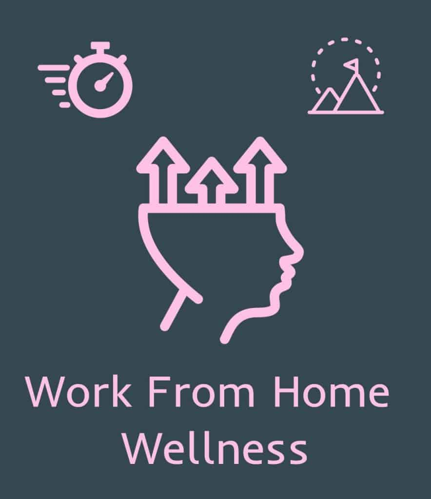 work from home wellness icon