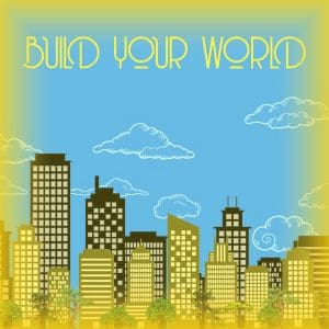 Build your world square Icon Gold