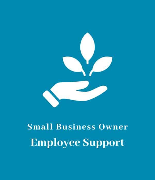 Small business owner employee support icon