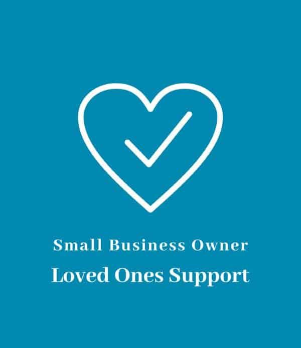 Small business owner loved ones support icon