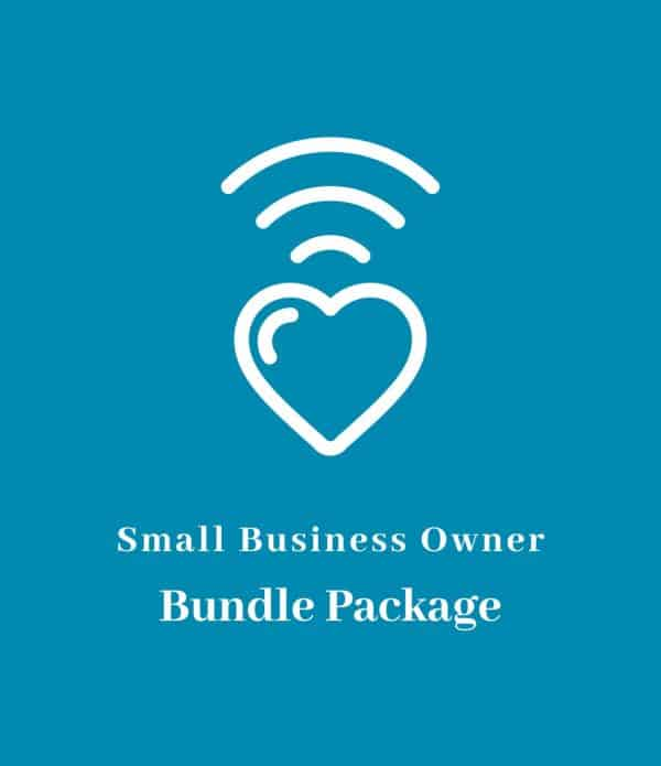 Small business owner bundle package icon